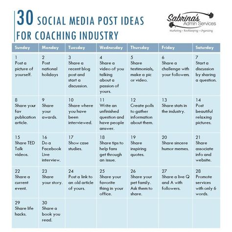 30 Engaging Coaching Industry Social Media Post Ideas