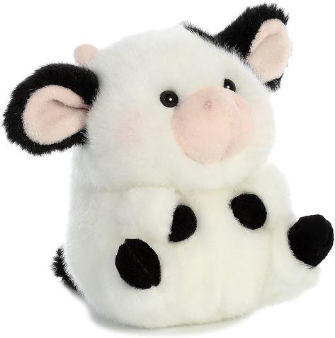 Aurora 16834 Daisy Cow Rolly Pet Plush Stuffed Animal 5