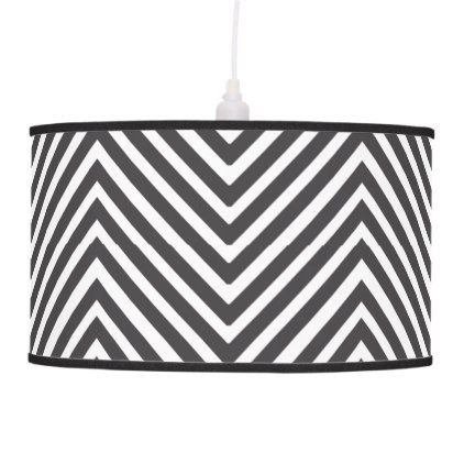 Black and White Abstract Chevron Pattern Lamp - pattern sample ...