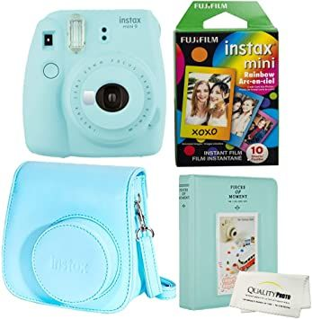 Fujifilm Instax Mini 9 Polaroid Ice Blue Instant Camera Plus Original Fuji Case Photo Album And Fujifi Instax Mini Instant Camera Fujifilm Instax