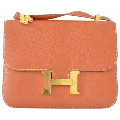 6d04f03805c1ee Leather HERMÈS Handbag - Vestiaire Collective   Väskor