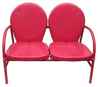 retro metal tulip 2 seat double chair