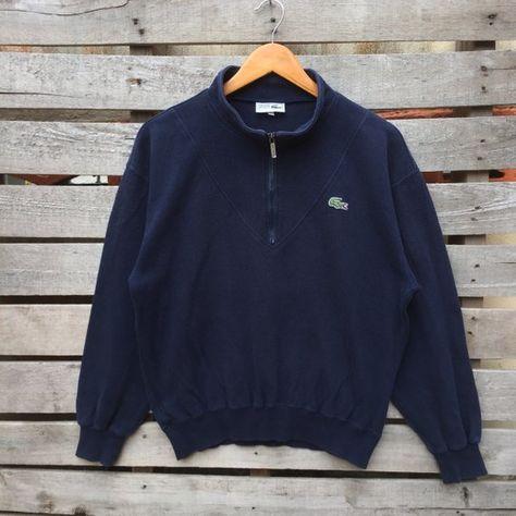 695bba272079 Vintage Chemise Lacoste Sweatshirt Mens Womens Vintage 90s Blue Colour  Jumper Pullover Turtleneck lacoste Size 3 Label   Lacoste Label Size   3  Made in ...