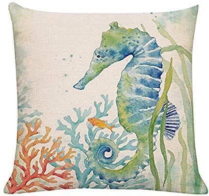 patio cushion covers amazon on Amazon Com Ltext Ocean Beach Outdoor Throw Pillow Covers Turtle Crab Decorative Sea Coastal Theme Decor Cushio Seahorse Decor Fall Pillows Throw Pillow Covers