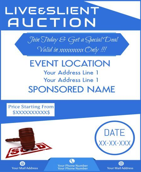 School Silent Auction Flyer Free Psd Flyer Templates