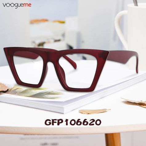 f1e2b08ecb Marissa Cat Eye Red Eyeglasses These glasses have a contemporary