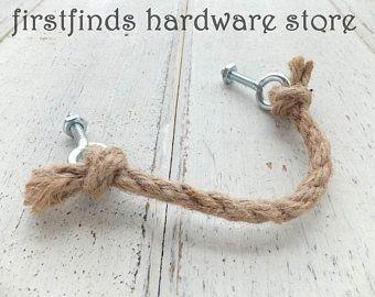 Rope Handles Nautical Drawer Pull Shabby Chic Coastal Beach Etsy In 2020 Rustic Hardware Drawer Pulls Nautical Drawers