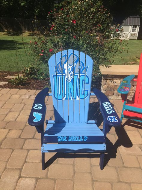 Awesome Hand Painted Unc Tarheels Adirondack Chair By Gmtry Best Dining Table And Chair Ideas Images Gmtryco