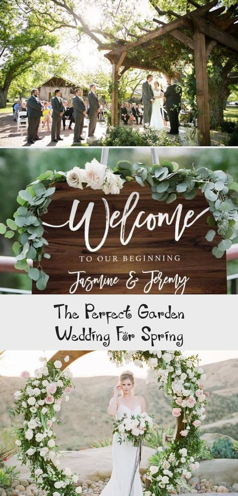 Have the perfect spring wedding in a garden! Whether you want rustic, romantic or elegant you can have an outdoor wedding with these enchanting wedding planning ideas. For reception or ceremony it can all be in the beauty of nature's bloom.   #gardenwedding #springweddingideas #Tropicalgardenwedding #gardenweddingChairs #Rosegardenwedding #gardenweddingColors #gardenweddingVenues #garden wedding bouquet The Perfect Garden Wedding For Spring - Pinokyo
