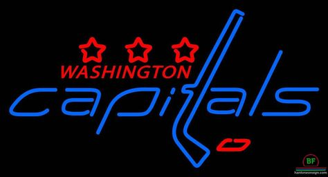 Washington Capitals Neon Sign NHL Teams Neon
