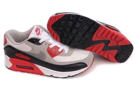 dbe8f7f8c00 Livraison rapide Nike Air Max 90 Blanche Grise Noir Rouge Homme Chaussures  Vente