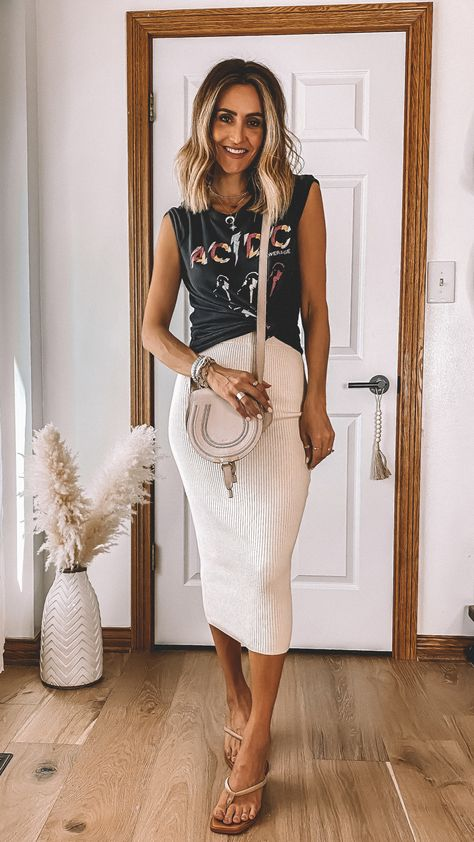 8 Ways To Style A Rib Knit Skirt