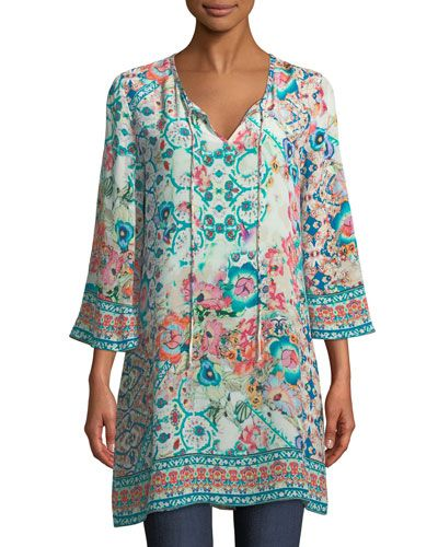 Summer Georgette Tunic Kaftan Dress Printed Holiday One size 14 16 18 20 22 24 M