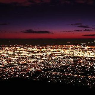 """Albuquerque Sparkle this is our view at night. the """"diamonds"""" of the city and Sandia in the background. so amazing"""