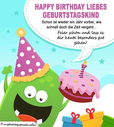 Lustige Geburtstagskarte Fur Kinder Best Of Happy Birthday Liebes
