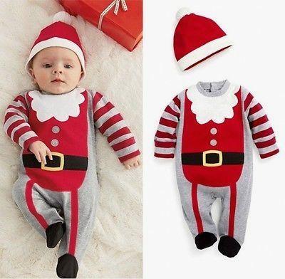 d3461ba62b4d Christmas Newborn Baby Girl And Boy Winter Bodysuit (Hat or Headband ...