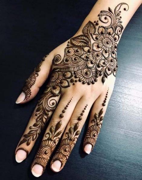 Wedding Henna Tattoo Designs For Brides On Hand 15012019 10
