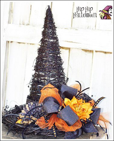 Witch Hat Craft Idea - Make a witch hat from grapevine! Easy!