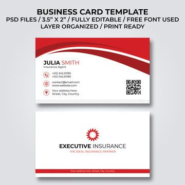 Insurance Agent Business Card Template Business Card Template Business Card Template Psd Business Cards Creative