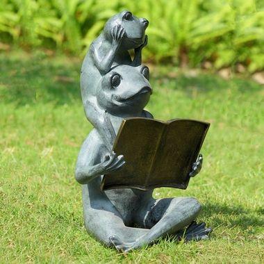 Aluminum Whimsical Meditating Yoga Bear Relaxed Pose Garden Statue Rustic Decor