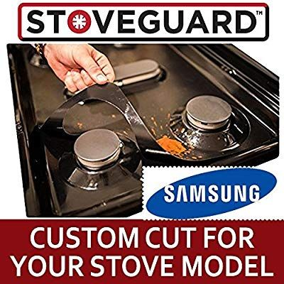 Amazon Com Samsung Gas Stovetop Stove Guard Gas Stove Top Protector Liner Range Burner Cover Nonstick Dishwasher Safe A Clean Stove Samsung Stoves Stove