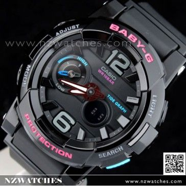 BUY Casio Baby-G G-Lide Moon Tide graph Thermometer Sport Watch BGA-180-1B 249a472997dc