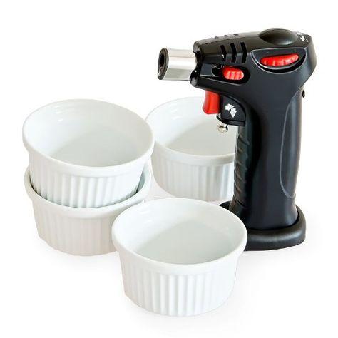 Creme brulee torch - Mini kitchen torch 4 ramekins - The ...