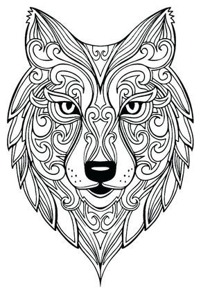 Wolf Coloring Pages For Adults Best Coloring Pages For Kids Wolf Colors Animal Coloring Pages Mandala Coloring Pages