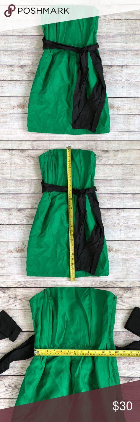 Zara Basic Emerald Green Strapless