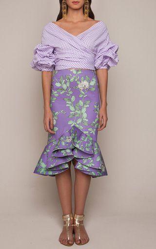 Bellflower Skirt by JOHANNA ORTIZ Now Available on Moda Operandi