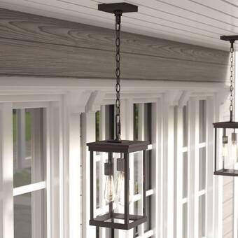 Wyckoff Blackened Oil Rubbed Bronze 1 Bulb 15 H Plug In Outdoor Pendant Outdoor Hanging Lights Outdoor Hanging Lanterns Outdoor Barn Lighting