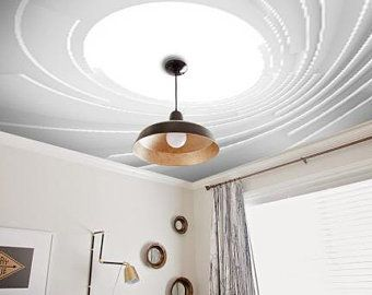 Diy Tin Tile Ceiling On A Budget Using Peel And Stick Temporary Wallpaper Faux Tin Tiles Diy Ceiling Kitchen Wall Colors