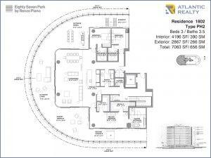 New Miami Residences Eighty Seven Park Penthouse Floor Plan Condo Floor Plans Renzo Piano Craftsman Floor Plans