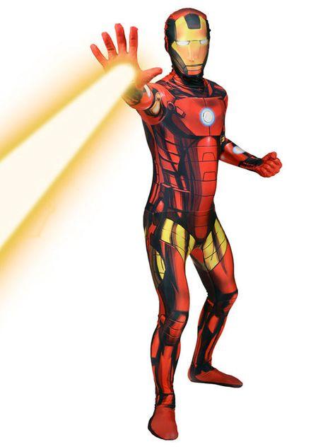 Marvel Iron Man Digital Morphsuit Lizenzware Gold Rot Schwarz Iron Man Ausgefallene Faschingskostume Marvel