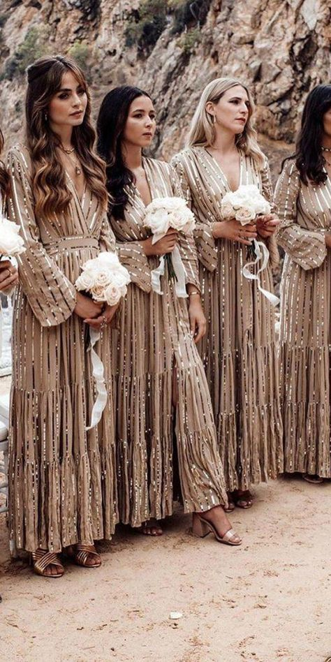 15 Ideas For Long Bridesmaid Dresses Western Bridesmaid Dresses, Summer Bridesmaid Dresses, Wedding Bridesmaids, Gatsby Wedding Dress, Wedding Dress Bustle, Wedding Dresses, Church Wedding, Wedding Reception, Wedding Goals