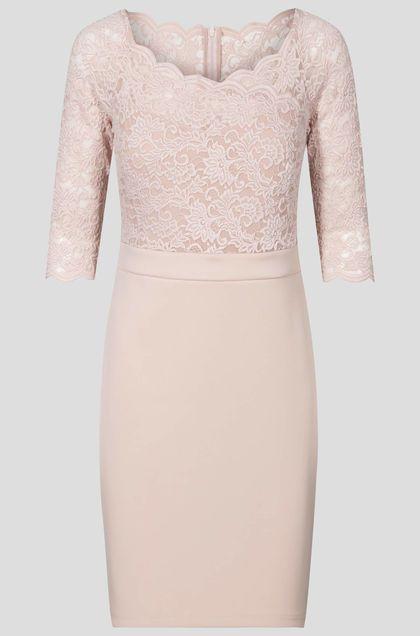 Bi-material ruha - Narancssárga  Abendkleid, Modestil, Formelle