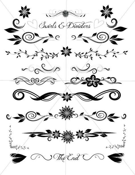 Divider Lines Fancy Swirls And Ornamental Borders Scalabe Vector Graphics Svg Pdf And Jpg Files Swirls Vector Graphics Fancy