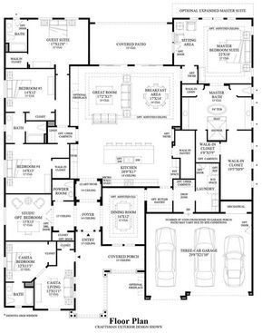Floor Plan Love The Right Side Need To Reconfigure Rest House Blueprints House Layouts Floor Plans
