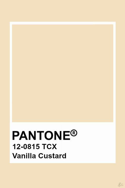 Pantone Vanilla Custard