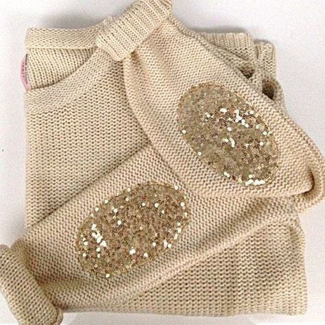Sequins elbow patches