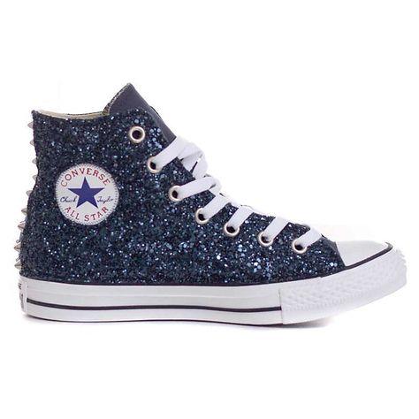Scarpe Donna Sneakers Alte Sneakers All Star Hi Total Glitter e borchie  Converse b40ef8feca9