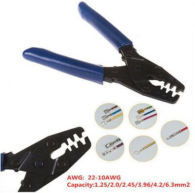 Professional 10 22 Awg Open Barrel Terminal Crimper Tool Wiring Harness Kit In 2020 Crimper Tools Electrician Tool Bag
