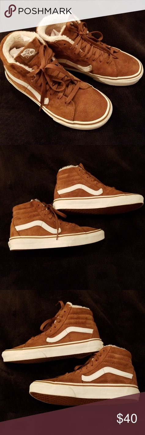 b722c12bd7 Pig Suede Fleece SK8- Hi Vans Women Size 6.5 Condition  Excellent Suede Old  Skool SK8- Hi Vans Women Size  6.5 Color  Chocolate Brown with Fleece  Lining If ...