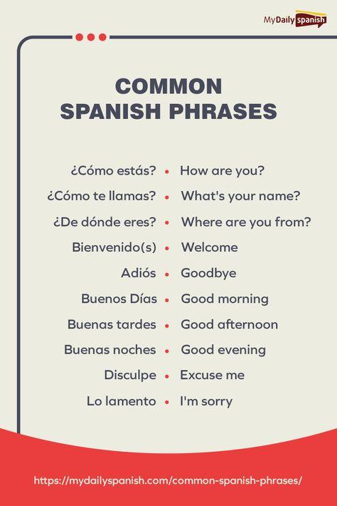 Common Spanish Phrases