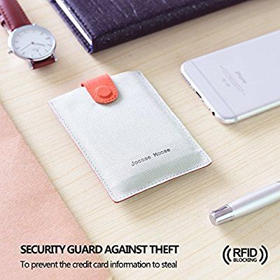 los más valorados comprar online primer nivel Tarjetero RFID Cartera Para Tarjetas de Crédito Pequeño ...