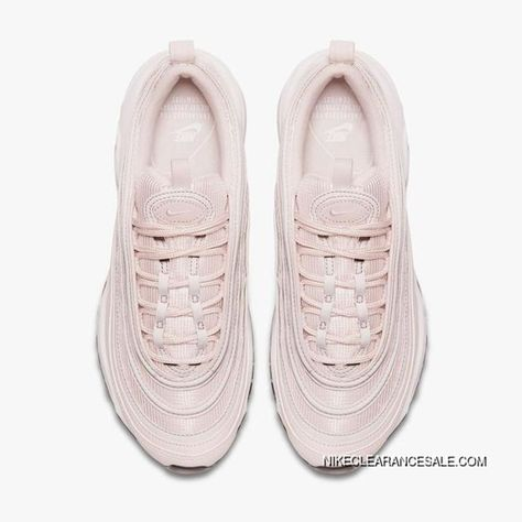 "dfe76f114 Nike Air Max 97 Womens ""Barely Rose"" Running Shoes 921733-600 Pink White  Best"