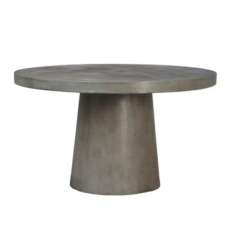 Modern Cement Round Pedestal Table Round Pedestal Dining Table Concrete Dining Table Pedestal Dining Table