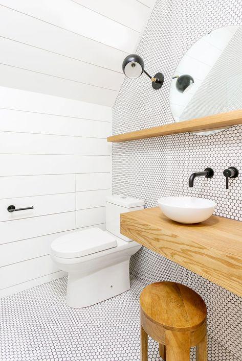 Best Modern Bathroom Ideas - Floating Wooden Vanity | Elonahome.com