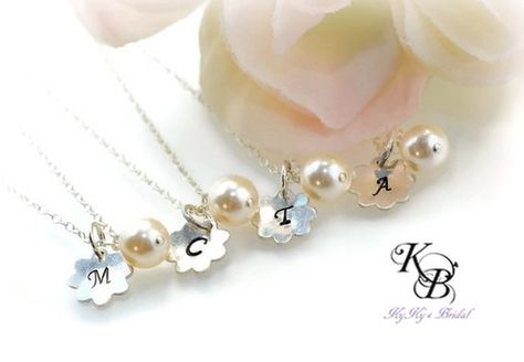 Child Pearl Necklace Bridal Pearls Flower Girl Jewellery Vintage Style Necklace Flower Girl Jewelry Set Junior Bridesmaid Jewelry