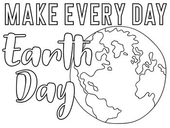 Earth Day Coloring Page Freebie Earth Day Coloring Pages